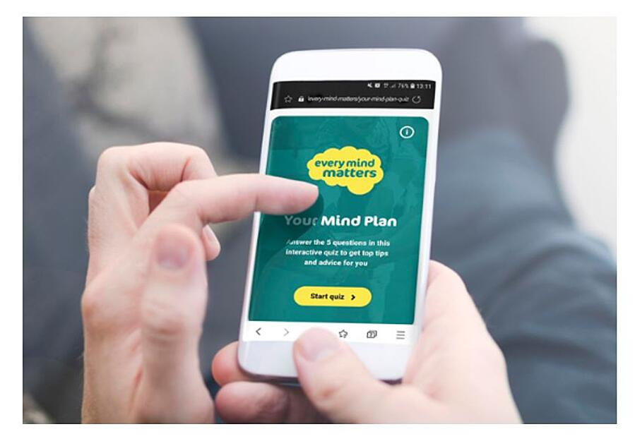 Person using Ever Mind Matters platform on mobile phone
